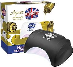 Voňavky, Parfémy, kozmetika Lampa na nechty LED, čierna - Ronney Profesional Agnes LED 48W (GY-LED-032)