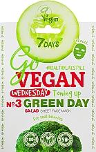 """Voňavky, Parfémy, kozmetika Textilná maska na tvár """"Pre skutočných zajačikov"""" - 7 Days Go Vegan Wednesday Green Day"""