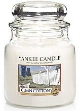 Voňavky, Parfémy, kozmetika Sviečka v sklenenej nádobe - Yankee Candle Clean Cotton