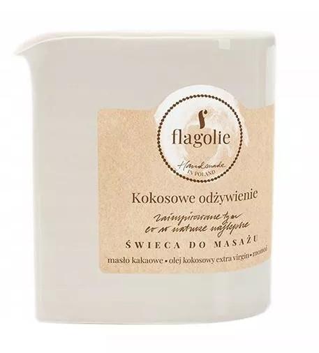"""Masážna sviečka """"Vyživujúci kokos"""" - Flagolie Coconut Nutrition Massage Candle"""