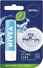 """Balzam na pery """"Aqua starostlivosť"""" SPF 15 - Nivea Lip Care Hydro Care Lip Balm — Obrázky N1"""