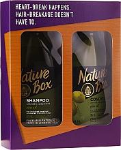 Voňavky, Parfémy, kozmetika Sada - Nature Box Olive Oil Set (shmp/385ml + cond/385ml)