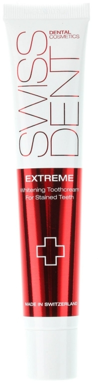 Bieliaca zubná pasta - SWISSDENT Extreme Whitening Toothcream for Stained Teeth — Obrázky N2