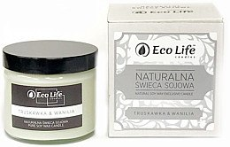 """Voňavky, Parfémy, kozmetika Vonná sviečka """"Jahoda a vanilka"""" - Eco Life Candles"""