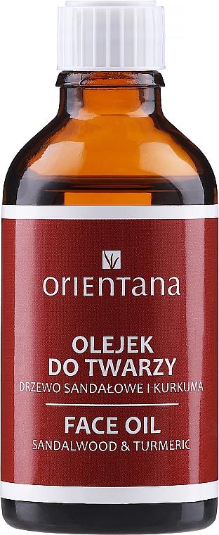 "Olej na tvár ""Santalové drevo a kurkuma"" - Orientana Face Oil Sandalwood & Turmeric — Obrázky N1"