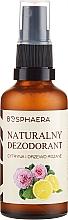 Voňavky, Parfémy, kozmetika Prírodný dezodorant s citrónom a ružou - Bosphaera