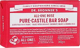"Voňavky, Parfémy, kozmetika Mydlo ""Rose"" - Dr. Bronner's Pure Castile Bar Soap Rose"