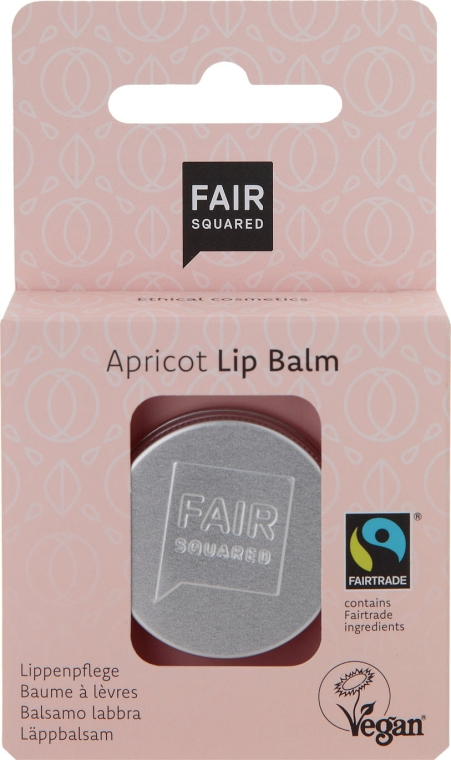 "Balzam na pery ""Marhuľa"" - Fair Squared Lip Balm Apricot — Obrázky N1"