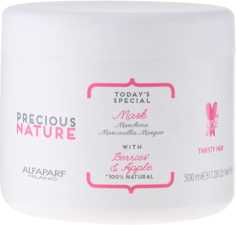 """Maska pre suché a matné vlasy """"Bobule a Jablko"""" - Alfaparf Precious Nature Mask for Thirsty Hair — Obrázky N1"""