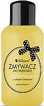 Voňavky, Parfémy, kozmetika Odlakovač na nechty s glycerínom a ľanovým olejom - Silcare