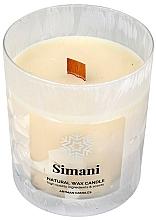 Voňavky, Parfémy, kozmetika Dekoratívna sviečka v matnom skle, 8x9,5 cm - Artman Organic Winter Simani