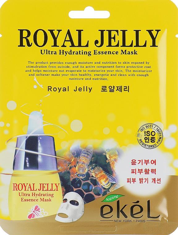 Výživná textilná maska s včelou materskou kašičkou - Ekel Royal Jelly Hydrating Essence Mask