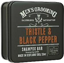 """Voňavky, Parfémy, kozmetika Šampón na vlasy """"Bodliak a čierne korenie"""" - Scottish Fine Soaps Mens Grooming Thistle & Black Pepper Shampoo Bar"""