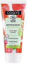 Voňavky, Parfémy, kozmetika Detská zubná pasta s jahodovou príchuťou - Coslys Junior Toothpaste