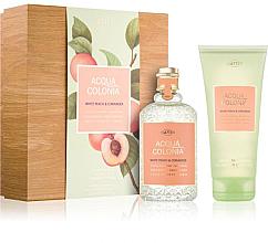 Voňavky, Parfémy, kozmetika Maurer & Wirtz 4711 Aqua Colognia White Peach & Coriander - Sada (col 170ml +sh/gel/200ml)