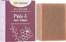 """Voňavky, Parfémy, kozmetika Bio mydlo """"Myrtle a červené hrozno"""" - La Saponaria Bio Sapone"""