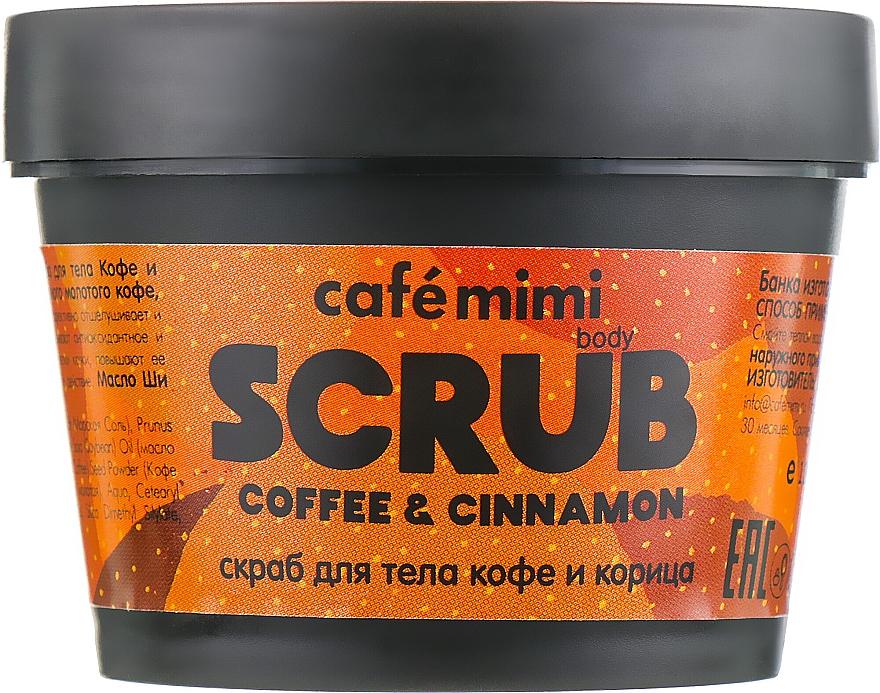 """Scrub na telo """"Káva a škorica"""" - Cafe Mimi Body Scrub Coffee & Cinnamon"""