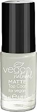 Voňavky, Parfémy, kozmetika Matný vrchný lak - Vegan Natural Matte Top Coat