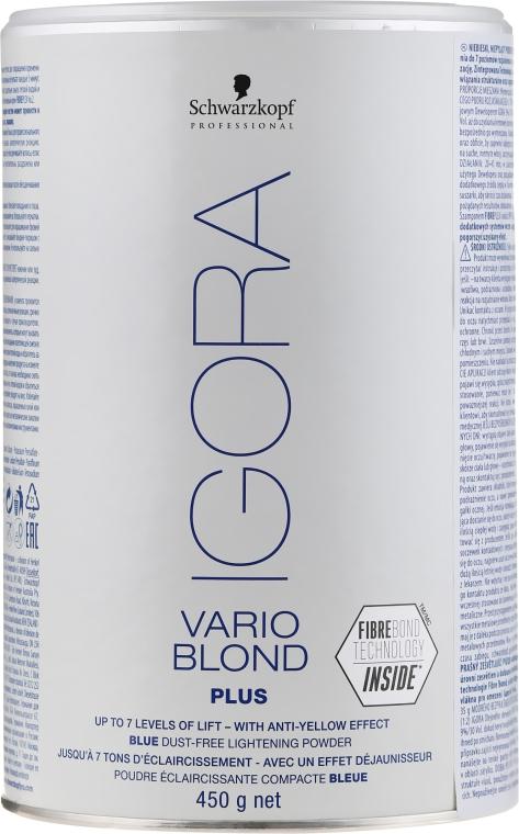Rozjasňujúci prášok - Schwarzkopf Professional Igora Vario Blond Plus