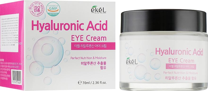 Hydratačný krém na pokožku okolo očí, s kyselinou hyalurónovou - Ekel Hyaluronic Acid Eye Cream