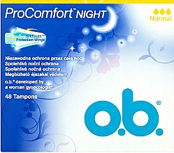 Voňavky, Parfémy, kozmetika Tampóny, 48 ks - O.b. ProComfort Night Normal