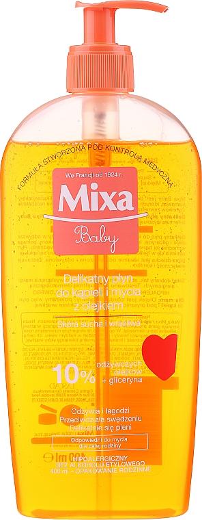 Detský penový olej do sprchy - Mixa Baby Foaming Oil