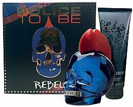 Voňavky, Parfémy, kozmetika Police To Be Rebel - Sada (edt/75ml + sh/gel/100ml)