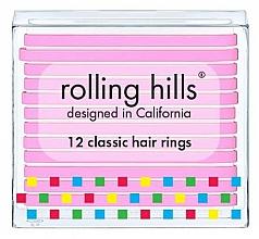 Voňavky, Parfémy, kozmetika Sada gumičiek do vlasov - Rolling Hills Classic Hair Rings Pink
