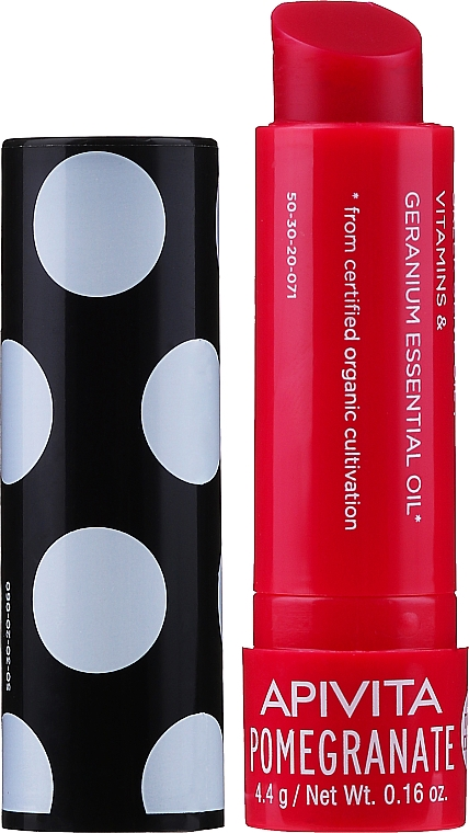 Balzam na pery zo včelieho vosku a granátového jablka - Apivita Ruby Lips Limited Edition 40 Years Lip Care Pomegranate