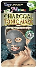 """Voňavky, Parfémy, kozmetika Maska na tvát """"Drevené uhlie"""" - 7th Heaven Charcoal Tonic Sheet Mask"""