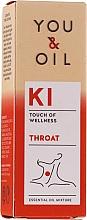 Voňavky, Parfémy, kozmetika Zmes éterických olejov - You & Oil KI-Throat Touch Of Welness Essential Oil
