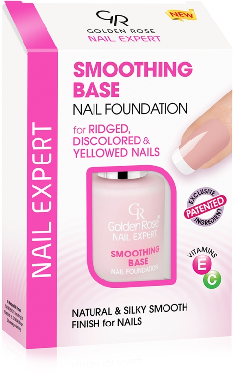Vyrovnávajúca báza pre nechty - Golden Rose Nail Expert Smoothing Base Nail Foundation — Obrázky N1