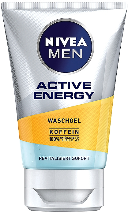 "Gél na umývanie ""Náboj energie"" - Nivea Men Active Energy Caffeine Face Wash Gel"