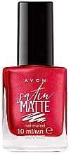 Voňavky, Parfémy, kozmetika Lak na nechty - Avon Satin Matte Nail Enamel