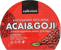 Voňavky, Parfémy, kozmetika Antioxidačná textilná maska na tvár - Cafe Mimi Antioxidant Fase Mask Acai & Goji