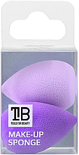 Voňavky, Parfémy, kozmetika Mini špongie na make-up, 2 ks - Tools For Beauty Mini Concealer Makeup Sponge Purple