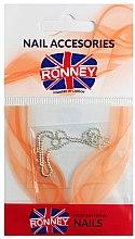 Voňavky, Parfémy, kozmetika Reťaz na ozdobenie nechtov, 00376, strieborné - Ronney Professional