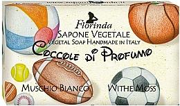"""Voňavky, Parfémy, kozmetika Prírodné mydlo """"Biele pižmo"""" - Florinda Sapone Vegetale Vegetal Soap White Moss"""