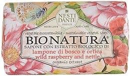 """Voňavky, Parfémy, kozmetika Mydlo """"Malina a žihľava"""" - Nesti Dante Bio Natura Bush Raspberry & Nettle Soap"""