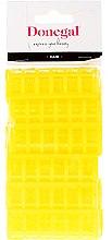 Voňavky, Parfémy, kozmetika Natáčky na vlasy 9218, klasický tvar, 20 mm, žlté, 12 ks - Donegal Hair Curlers