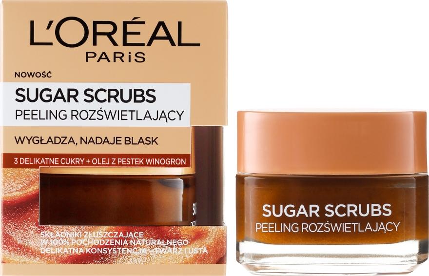Cukorový scrub na tvár - L'Oreal Paris Sugar Scrubs
