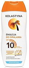 Voňavky, Parfémy, kozmetika Ochranná emulzia na opaľovanie SPF 10 - Kolastyna