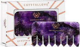 Voňavky, Parfémy, kozmetika Masážny hrebeň z ametystu na pokožku hlavy - Crystallove