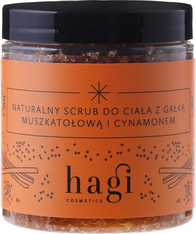 Prírodný telový peeling s muškátovým orieškom a škoricou - Hagi Scrub