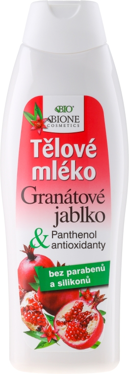 Telové mlieko - Bione Cosmetics Pomegranate Body Milk With Antioxidants