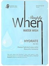 Voňavky, Parfémy, kozmetika Hydratačná textilná maska na suchú pokožku tváre - When Simply Water Wish