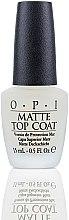 Voňavky, Parfémy, kozmetika Vrchný lak pre matný povrch - O.P.I Matte Top Coat