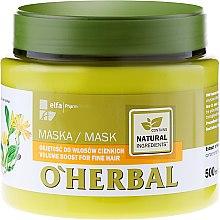 Voňavky, Parfémy, kozmetika Maska pre objem jemných vlasov s arnikovým extraktom - O'Herbal