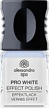 Voňavky, Parfémy, kozmetika Bieliaci top na gélový lak - Alessandro Spa Pro White Effect Polish