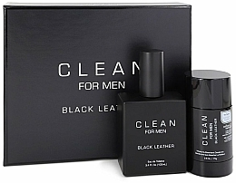 Voňavky, Parfémy, kozmetika Sada - Clean Black Leather Men (edt/100ml + deo/75ml)